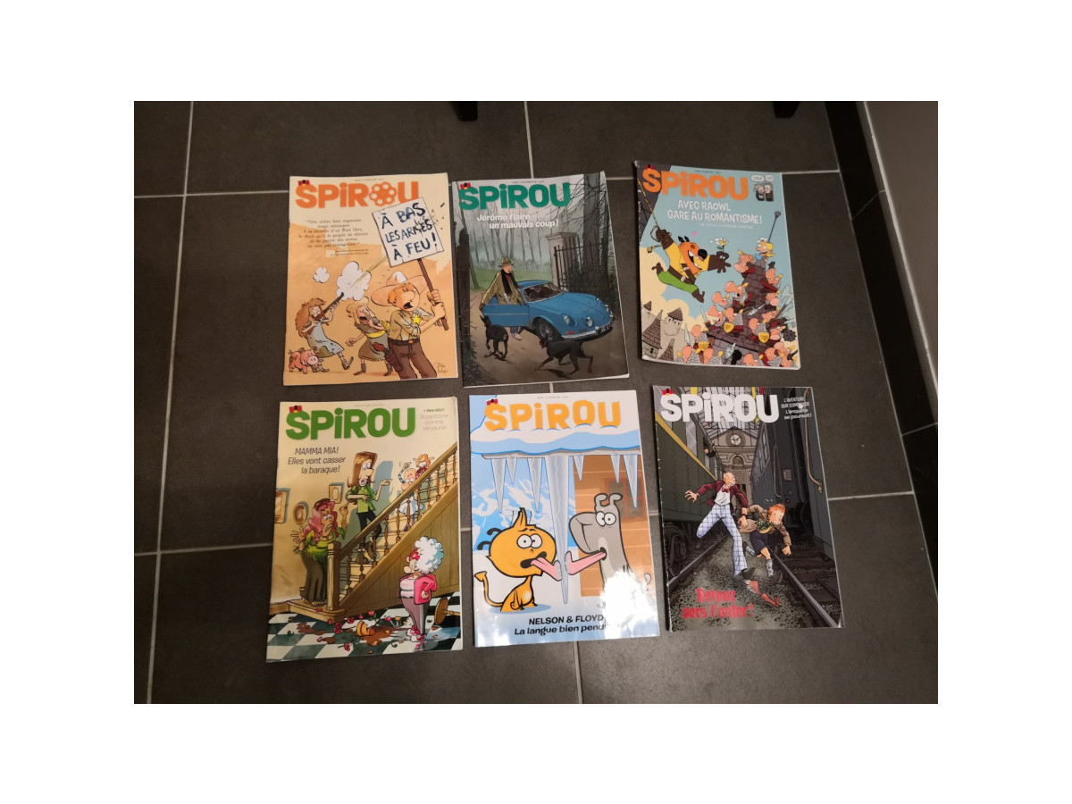 Illustration de Magazines Spirou